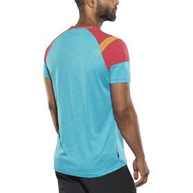 La Sportiva TX Combo Evo Camiseta manga corta Hombre, tropic blue/cardinal red